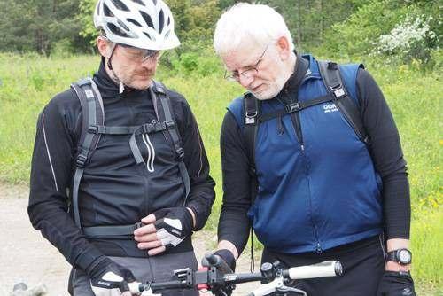 GPS-Gerät auf Radtour